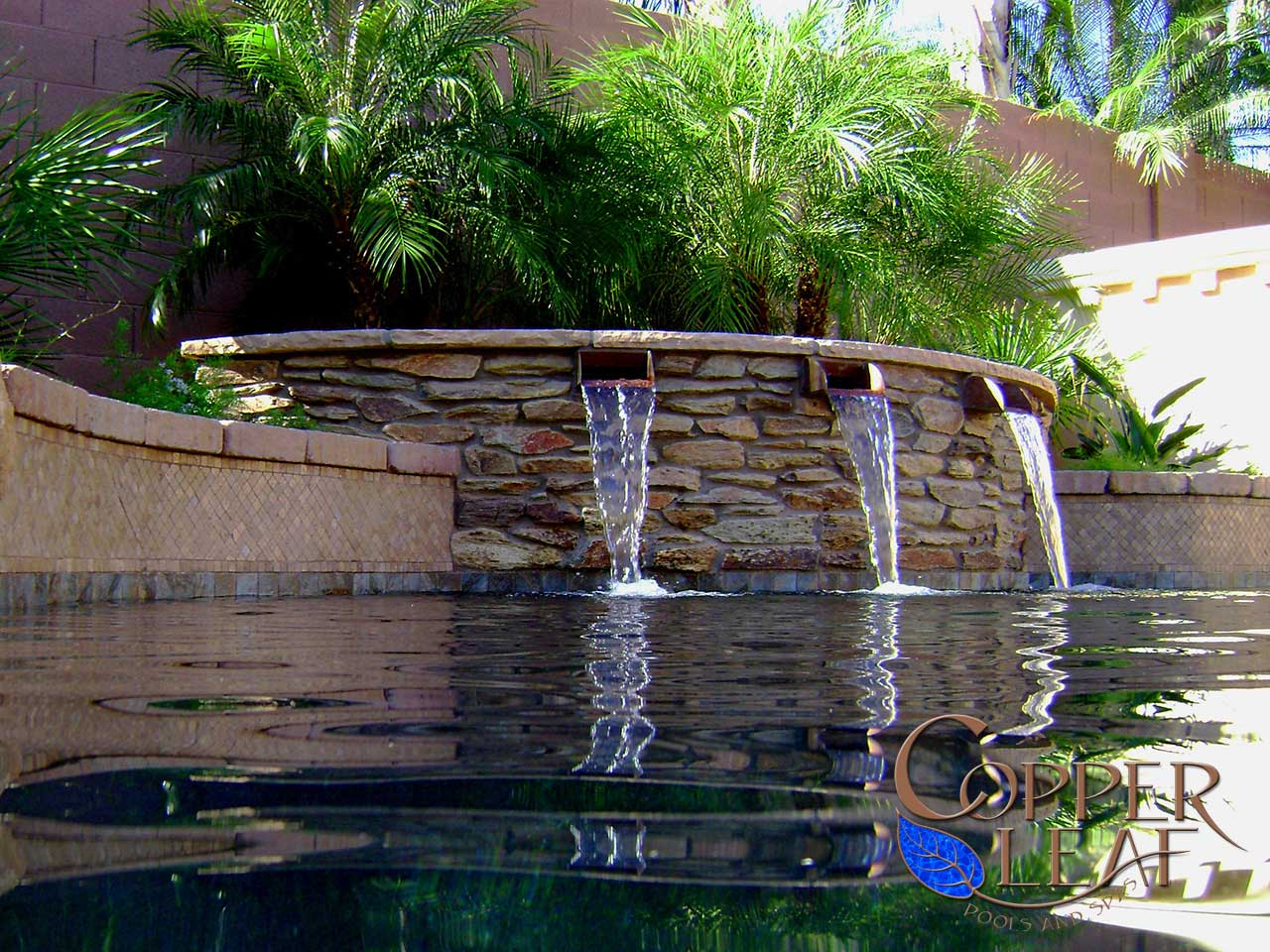 Copper Scuppers Water Feature in Scottsdale, AZ - Copper ...