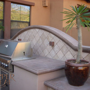 BBQ with concrete countertops