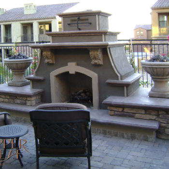 Fireplace with fire bowls