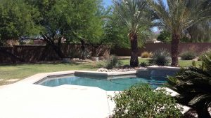 Before of the swimming pool before being remodeled.